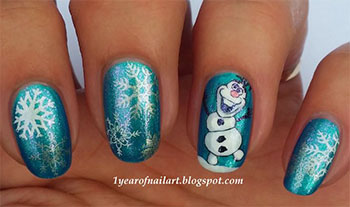 15-Disney-Frozen-Olaf-Nail-Art-Designs-Ideas-Trends-Stickers-2014-Olaf-Nails-15