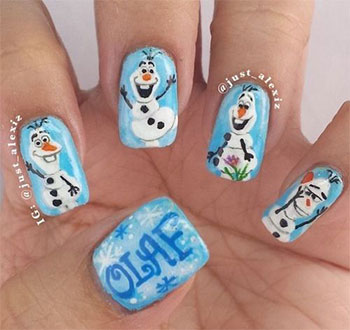 15-Disney-Frozen-Olaf-Nail-Art-Designs-Ideas-Trends-Stickers-2014-Olaf-Nails-8
