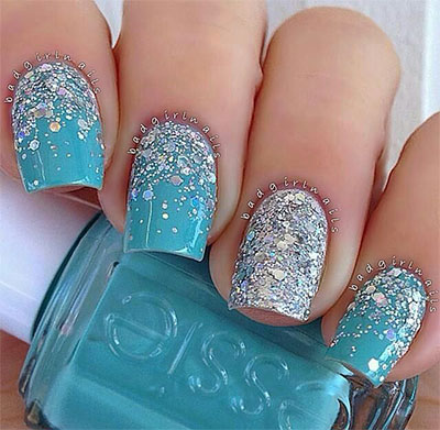 15-Disney-Frozen-Themed-Inspired-Nail-Art-Design- - 15 + Disney Frozen Themed & Inspired Nail Art Design, Ideas