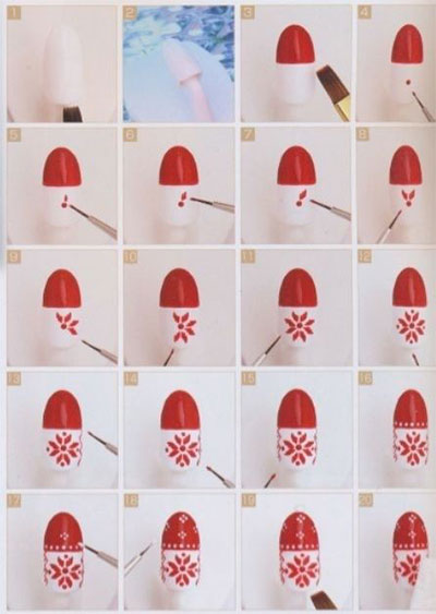 15-Easy-Nail-Art-Tutorials-For-Beginners-Learners-2014-15