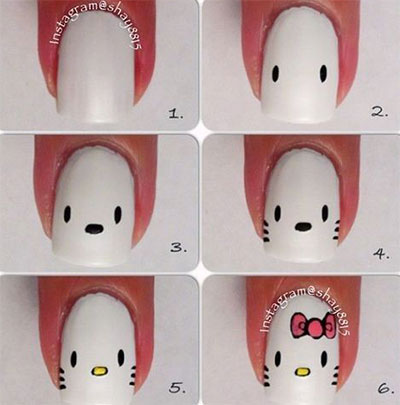 15-Easy-Nail-Art-Tutorials-For-Beginners-Learners-2014-4