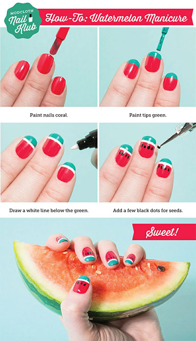 15-Easy-Nail-Art-Tutorials-For-Beginners-Learners-2014-6