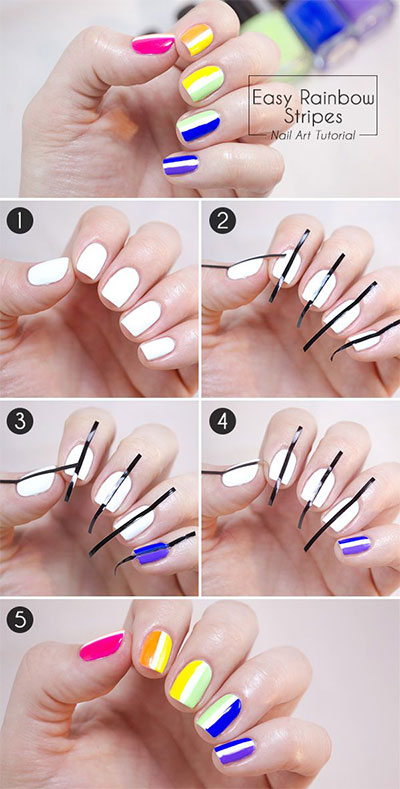 15-Easy-Nail-Art-Tutorials-For-Beginners-Learners-2014-8