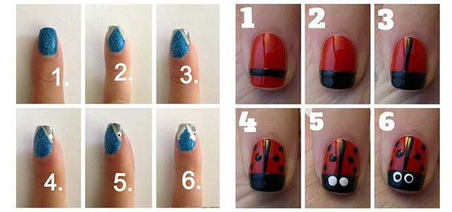15 Easy Nail Art Tutorials For Beginners Learners 2014 Fabulous