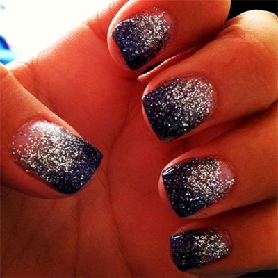 15 Glitter Gel Nail Art Designs Ideas Trends Stickers 2014