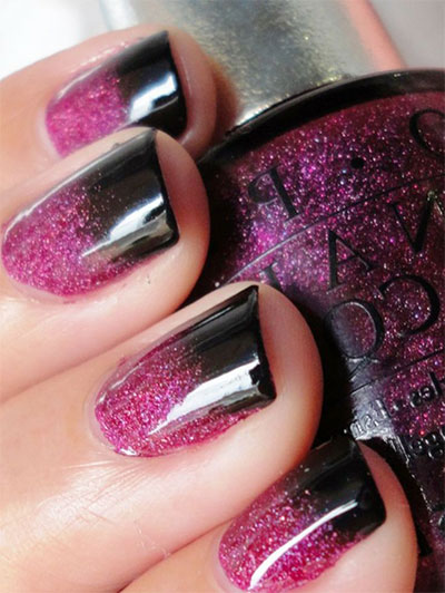 15 glitter gel nail art designs ideas trends. Black Bedroom Furniture Sets. Home Design Ideas