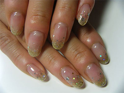 15 glitter gel nail art designs ideas trends - Gel Nails Designs Ideas