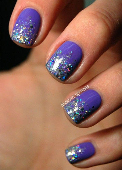 15 glitter gel nail art designs ideas trends - Gel Nail Design Ideas