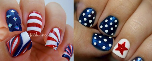 Fun 4th Of July Nails Splendid Wedding Company