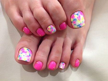 20 Easy Simple Toe Nail Art Designs Ideas