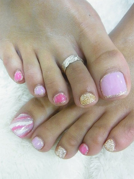 20 Easy Simple Toe Nail Art Designs Ideas Trends 2014 For