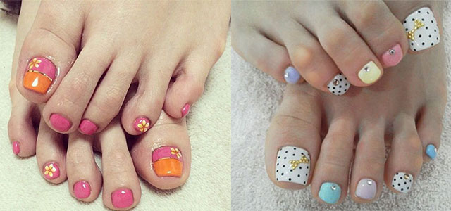 20 + Easy & Simple Toe Nail Art Designs, Ideas & Trends 2014 For Beginners  & Learners | Fabulous Nail Art Designs - 20 + Easy & Simple Toe Nail Art Designs, Ideas & Trends 2014 For