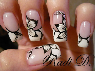 20-French-Gel-Nail-Art-Designs-Ideas-Trends- - 20 + French Gel Nail Art Designs, Ideas, Trends & Stickers 2014