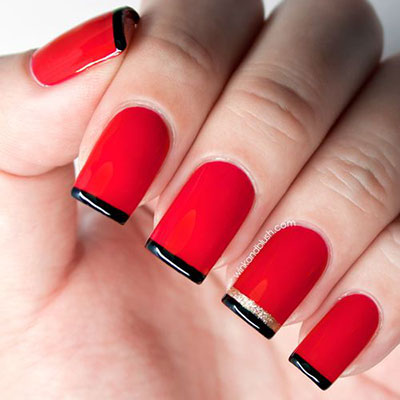 25-Simple-Easy-Nail-Art-Designs-Ideas-Trends-2014-For-Beginners-Learners-11