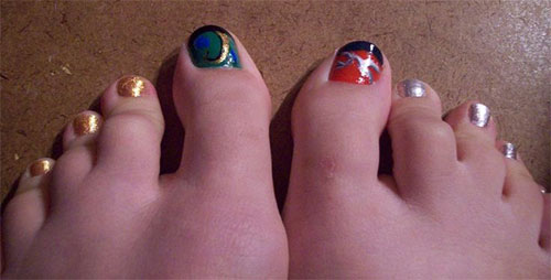 Cute-Loki-Toe-Nail-Art-Designs-Idea-2014-1