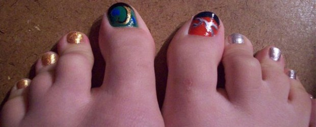 Cute-Loki-Toe-Nail-Art-Designs-Idea-2014
