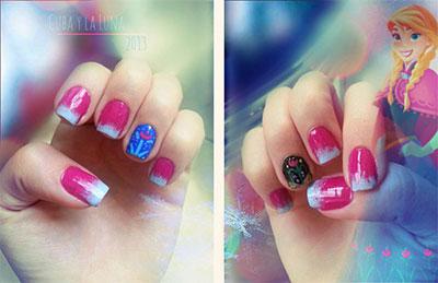 Disney-Frozen-Inspired-Anna-Nail-Art-Designs-Ideas-Stickers-2014-Anna-Nails-2
