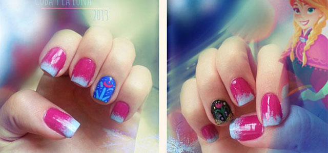 Disney-Frozen-Inspired-Anna-Nail-Art-Designs-Ideas-Stickers-2014-Anna-Nails