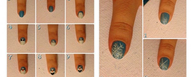 Easy-Disney-Frozen-Inspired-Nail-Art-Tutorials-For-Beginners-learners-2014