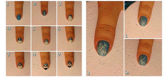 Easy Disney Frozen Inspired Nail Art Tutorials For Beginners