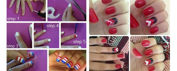 Easy-Fourth-Of-July-Nail-Art-Tutorials-For-Beginners-Learners-2014