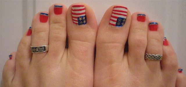 Toe Nail Designs Ideas 25 eye catching pedicure ideas for spring Elegant Fourth Of July Toe Nail Art Designs Ideas Trends 2014 Fabulous Nail Art Designs
