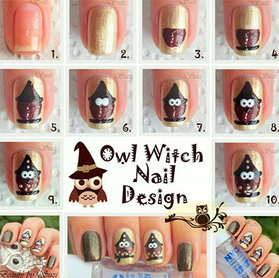 10-Easy-Step-By-Step-Owl-Nail-Art-Tutorials-For-Beginners-2014-1