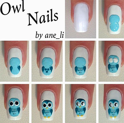 10-Easy-Step-By-Step-Owl-Nail-Art-Tutorials-For-Beginners-2014-2