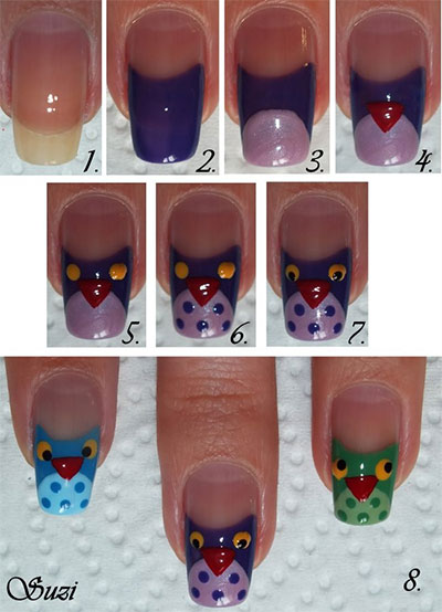 10-Easy-Step-By-Step-Owl-Nail-Art-Tutorials-For-Beginners-2014-5
