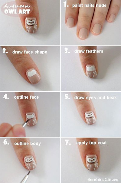 10-Easy-Step-By-Step-Owl-Nail-Art-Tutorials-For-Beginners-2014-6