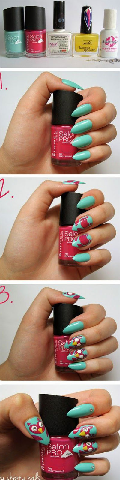 10-Easy-Step-By-Step-Owl-Nail-Art-Tutorials-For-Beginners-2014-9