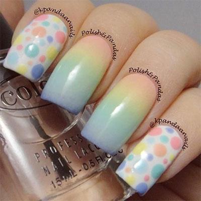 12 Unique Polka Dot Gradient Nail Art Designs Ideas