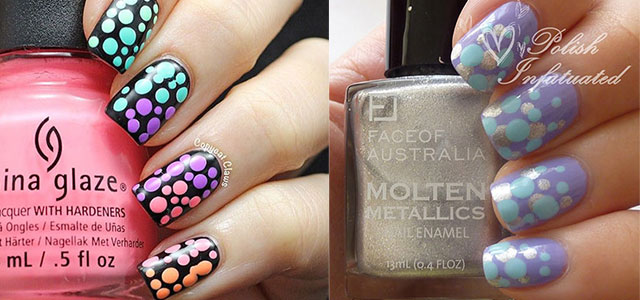 12-Unique-Polka-Dot-Gradient-Nail-Art-Designs-Ideas-Stickers-2014