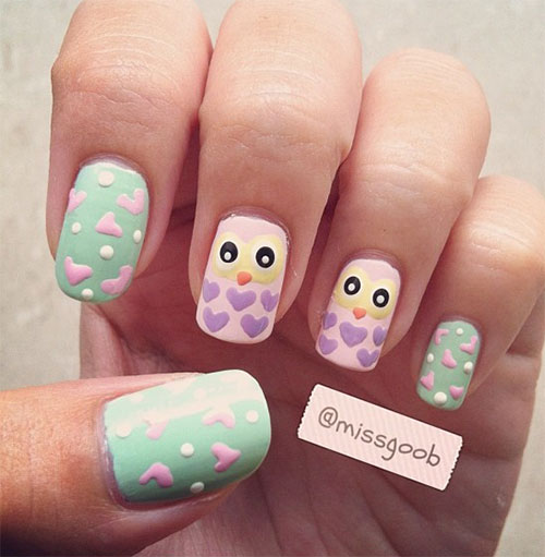 15-Cute-Owl-Nail-Art-Designs-Ideas-Trends-Stickers-2014-10