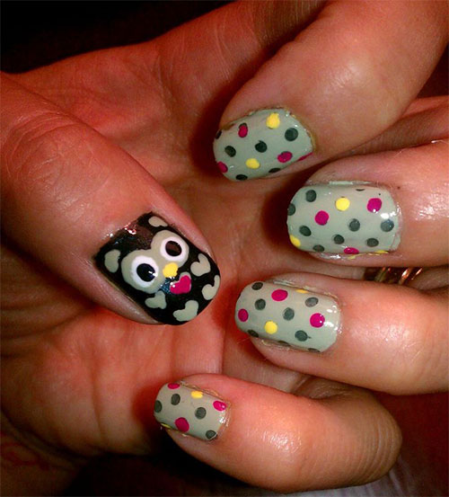 15-Cute-Owl-Nail-Art-Designs-Ideas-Trends-Stickers-2014-13