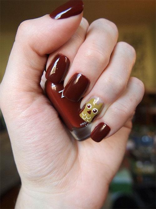 15-Cute-Owl-Nail-Art-Designs-Ideas-Trends-Stickers-2014-15