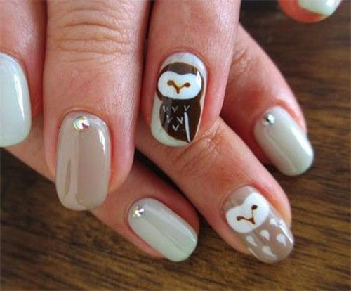 15-Cute-Owl-Nail-Art-Designs-Ideas-Trends-Stickers-2014-2