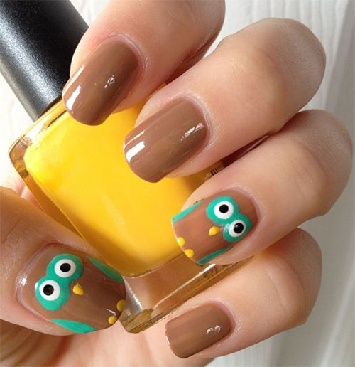 15-Cute-Owl-Nail-Art-Designs-Ideas-Trends-Stickers-2014-4