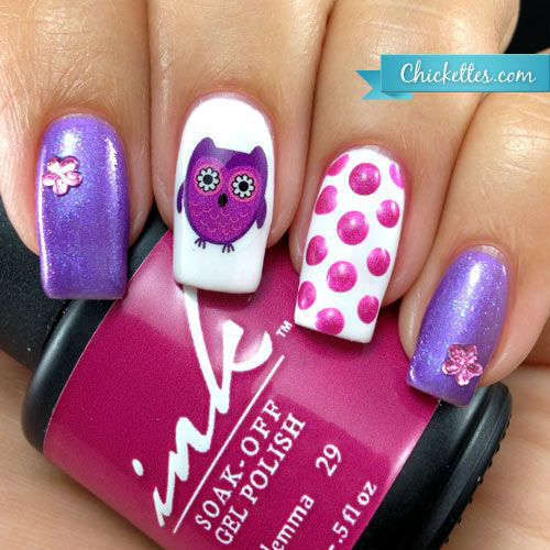15-Cute-Owl-Nail-Art-Designs-Ideas-Trends-Stickers-2014-7