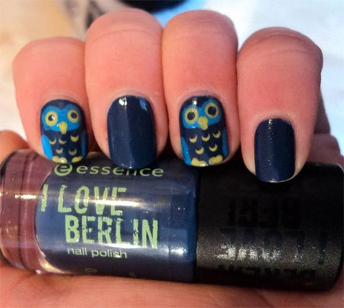 15-Cute-Owl-Nail-Art-Designs-Ideas-Trends-Stickers-2014-9
