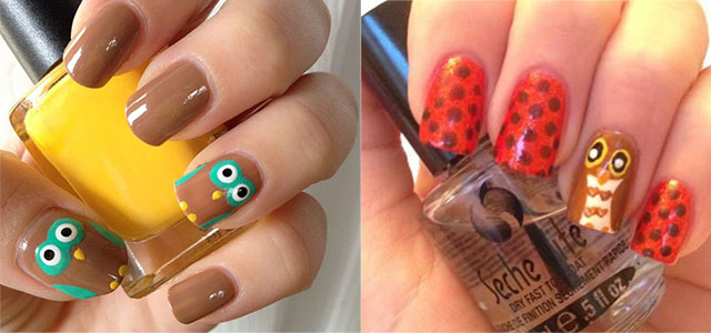 15 Cute Simple Owl Nail Art Designs Ideas Trends Stickers 2014