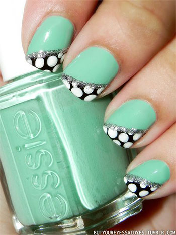 15-Cute-Polka-Dot-French-Nail-Art-Designs-Ideas-Trends-2014-4