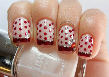 15-Cute-Polka-Dot-French-Nail-Art-Designs-Ideas-Trends-2014-5