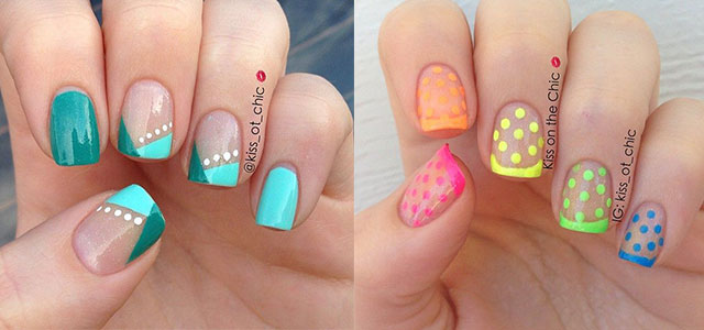 15 cute polka dot french nail art designs nail art design ideas - Cool Nail Design Ideas