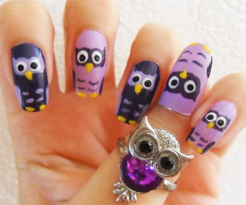 15-Owl-Nail-Art-Designs-Ideas-Trends-Stickers-2014-11