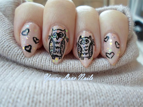15-Owl-Nail-Art-Designs-Ideas-Trends-Stickers-2014-14