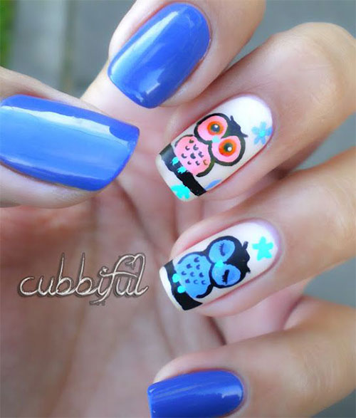 15-Owl-Nail-Art-Designs-Ideas-Trends-Stickers-2014-3