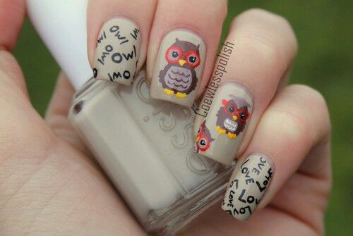 15-Owl-Nail-Art-Designs-Ideas-Trends-Stickers-2014-5