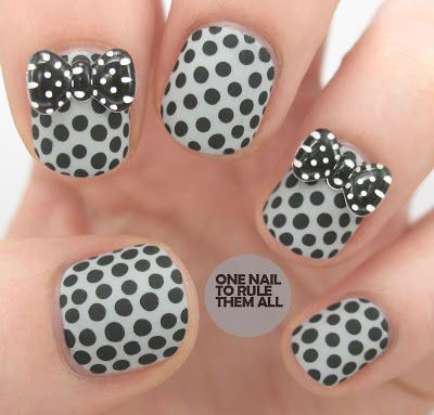15-Polka-Dot-Bow-Nail-Art-Designs-Ideas-Trends-2014-10