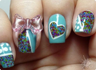15-Polka-Dot-Bow-Nail-Art-Designs-Ideas-Trends-2014-13